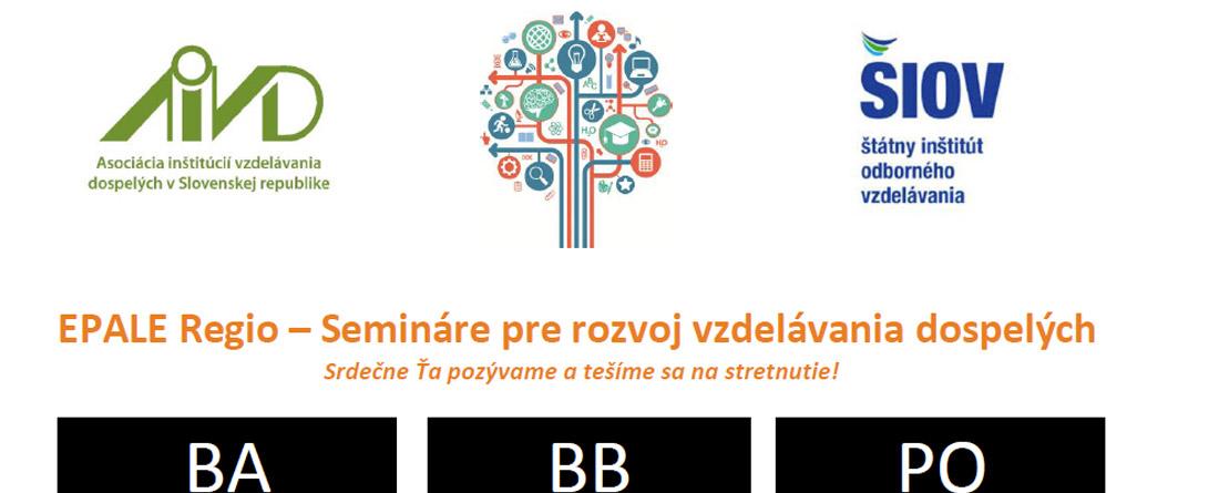 EPALE Regio - Semináre pre rozvoj vzdelávania dospelých